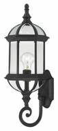 Nuvo 604973 Boxwood Lower Mounting Textured Black Traditional 22 Inch Tall Exterior Wall Lamp