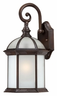 Nuvo 604982 Boxwood Small Frosted Glass Rustic Bronze Outdoor Sconce Lighting - Fluorescent