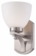 Nuvo 605011 Bentley Transitional Style 10 Inch Tall Brushed Nickel Wall Lighting Fixture