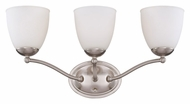 Nuvo 605033 Patton 3 Lamp Brushed Nickel Transitional Vanity Light Fixture