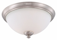 Nuvo 605041 Patton Transitional Style 15 Inch Diameter Brushed Nickel Flush Lighting