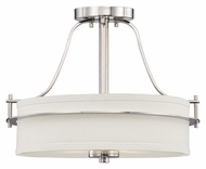Nuvo 605107 Loren Semi Flush Mount Polished Nickel 15 Inch Diameter Ceiling Light Fixture