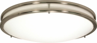 Nuvo 62-1037 Glamour Modern Brushed Nickel LED 17  Overhead Light Fixture