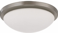 Nuvo 62-1042 Button Modern Brushed Nickel LED 11  Flush Mount Ceiling Light Fixture