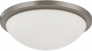 Nuvo 62-1043 Button Contemporary Brushed Nickel LED 13  Home Ceiling Lighting