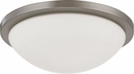 Nuvo 62-1043 Button Brushed Nickel LED 13  Ceiling Light Fixture