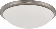 Nuvo 62-1044 Button Modern Brushed Nickel LED 17  Overhead Light Fixture