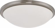 Nuvo 62-1044 Button Brushed Nickel LED 17 Ceiling Lighting Fixture