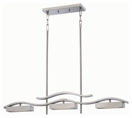 Nuvo 62-115 Wave LED Brushed Nickel Finish 38 Inch Wide Island Light Fixture