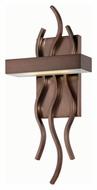 Nuvo 62-124 Wave Hazel Bronze Finish 7 Inch Wide LED Wall Sconce Lighting
