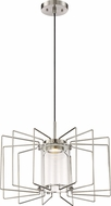 Nuvo 62-1351 Wired Modern Brushed Nickel LED Pendant Light Fixture