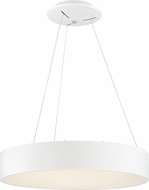 Nuvo 62-1455 Orbit Contemporary White LED 18  Drum Hanging Pendant Light