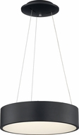 Nuvo 62-1456 Orbit Modern Black LED 18  Drum Pendant Hanging Light