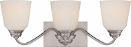 Nuvo 62-368 Calvin Brushed Nickel LED 3-Light Vanity Lighting