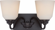 Nuvo 62-377 Calvin Mahogany Bronze LED 2-Light Vanity Light
