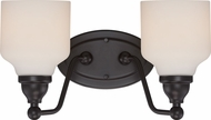 Nuvo 62-397 Kirk Mahogany Bronze LED 2-Light Bathroom Vanity Lighting