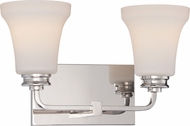 Nuvo 62-427 Cody Polished Nickel LED 2-Light Bathroom Vanity Light Fixture