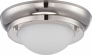 Nuvo 62-513 Poke Contemporary Polished Nickel LED Flush Ceiling Light Fixture