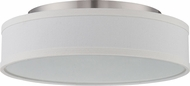 Nuvo 62-524 Heather Brushed Nickel LED Ceiling Light Fixture