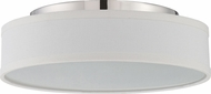 Nuvo 62-526 Heather Polished Nickel LED Flush Mount Lighting