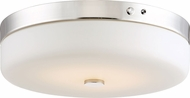 Nuvo 62-981 Polished Nickel LED Flush Ceiling Light Fixture