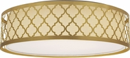 Nuvo 62-987 Filigree Natural Brass LED Overhead Light Fixture