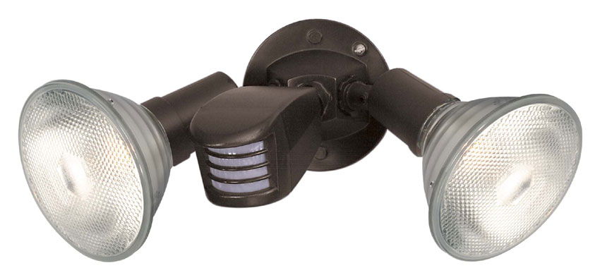 Nuvo 76503 Exterior Flood Light 2 Lamp Bronze 10 Inch Wide