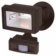 Nuvo 76505 Exterior Flood Light Motion Sensing Black 5 Inch Wide Outdoor Flood Lighting