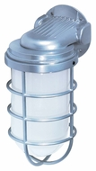 Nuvo 76622 Industrial Style Large Outdoor 11 Inch Tall Lighting Sconce - Metallic Silver