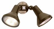 Nuvo 77495 Exterior Flood Light 2 Lamp 15 Inch Wide Security Light - Dark Bronze
