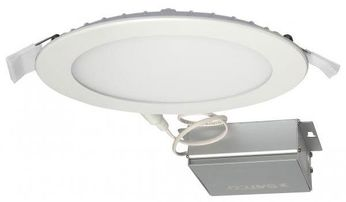 Nuvo Edge-Lit Recessed Direct Wire Contemporary White LED 6 Round Recessed Lighting Fixture