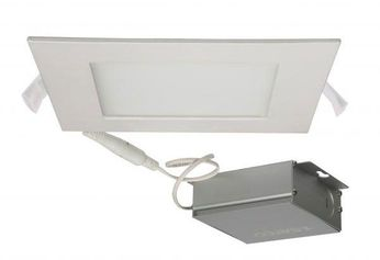 Nuvo Edge-Lit Recessed Direct Wire Contemporary White LED 6  Square Recessed Lighting