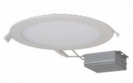 Nuvo Edge-Lit Recessed Direct Wire Contemporary White LED 8  Round Recessed Lighting