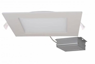 Nuvo Edge-Lit Recessed Direct Wire Modern White LED 8  Square Recessed Lighting Fixture