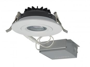 Nuvo S11618 Contemporary White LED 4  Round Gimbal Direct Wire Recessed Lighting