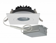 Nuvo S11621 Modern White LED 4  Square Gimbal Direct Wire Recessed Lighting Fixture