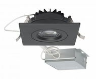 Nuvo S11622 Contemporary Black LED 4  Square Gimbal Direct Wire Recessed Light Fixture
