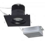 Nuvo S11628 Modern Black LED 3.5  Square Gimbal Direct Wire Recessed Light Fixture