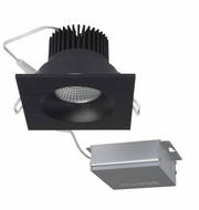 Nuvo S11634 Modern Black LED 3.5  Square Downlight Direct Wire Recessed Light Fixture