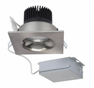 Nuvo S11635 Modern Brushed Nickel LED 3.5  Square Downlight Down Lighting Fixture