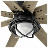 Oxygen 3-1084-15 Fleet Contemporary Black LED Fan Light Fixture