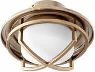 Oxygen 3-1084-40 Fleet Modern Aged Brass LED Fan Light Fixture