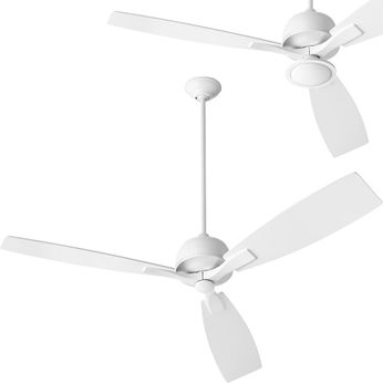 Oxygen 3-109-6 Juno Contemporary White LED 60 Home Ceiling Fan
