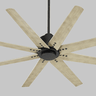 Oxygen 3-112-15 Fleet Contemporary Black Ceiling Fan