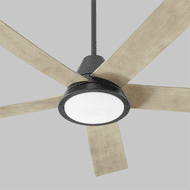 Oxygen 3-115-15 Temple Contemporary Black and Industrial Brass LED Ceiling Fan