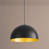 Oxygen 3-21-1550 Lucci Black and Industrial Brass LED 24 Pendant Light