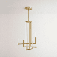 Oxygen 3-24-40 Luster Contemporary Aged Brass LED Chandelier Lamp