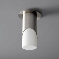 Oxygen 3-354-224 Ellipse Modern Satin Nickel LED Flush Ceiling Light Fixture