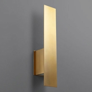 Oxygen 3-504-40 Reflex Contemporary Aged Brass LED Wall Lamp