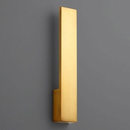 Oxygen 3-511-40 Icon Contemporary Aged Brass LED Wall Light Sconce